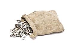 Sack with keys Royalty Free Stock Image