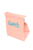 Sack of lunch. Brown lunch sack isolated on white Stock Photography