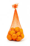 Sack of mandarin oranges Royalty Free Stock Photo