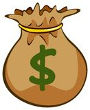 Sack of money Stock Photo