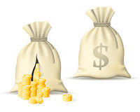 Sack with money Royalty Free Stock Photo