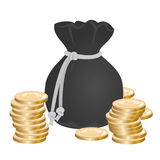 Sack with money Royalty Free Stock Image