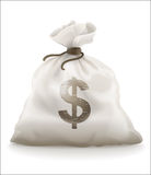 Sack with money Stock Photos