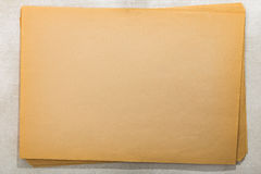 Sack of old paper sheets Royalty Free Stock Photo