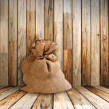 Sack in old room Stock Photo