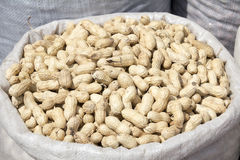 A sack of peanut Stock Photo