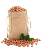Sack of Peanuts Stock Photos