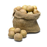 Sack of potatoes Royalty Free Stock Photos