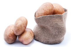 A sack of potatoes Royalty Free Stock Photos
