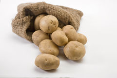 Sack of potatoes. In Bag Royalty Free Stock Images