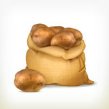 Sack of potatoes illustration Royalty Free Stock Image