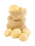 Sack of potatoes isolated Royalty Free Stock Image
