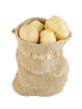 Sack of potatoes isolated Stock Photo