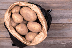 Sack of potatoes Royalty Free Stock Images