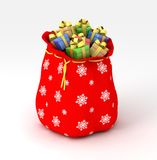 Sack of presents Royalty Free Stock Photos