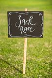 Sack Race Sign stock photos