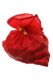 Sack of a red fabric Royalty Free Stock Photo