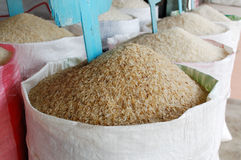 Sack Of Rice stock photography