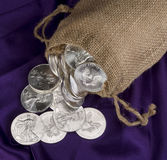 Sack Of Silver . Royalty Free Stock Image