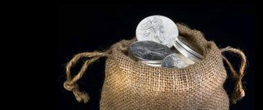 Sack Of Silver . Stock Photos