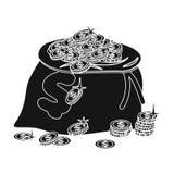 Sack, single icon in black style.Sack, vector symbol stock illustration web. Sack, single icon in black style.Sack, vector symbol stock illustration Royalty Free Stock Image