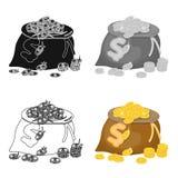 Sack, single icon in cartoon style.Sack, vector symbol stock illustration web. Sack, single icon in cartoon style.Sack, vector symbol stock illustration Stock Photography