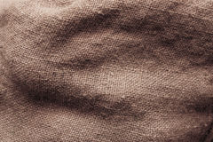 Sack texture. Surface of a sack filed with potatoes. Texture Royalty Free Stock Photography