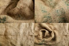Sack Texture Background Brown, Woven Royalty Free Stock Image