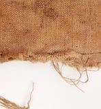 Sack texture background. On white background Royalty Free Stock Image