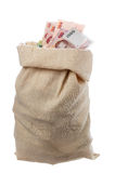 Sack with Thai banknotes Royalty Free Stock Image