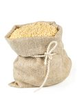 Sack with tie of sesame seeds Royalty Free Stock Photo