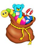Sack with toys royalty free stock image