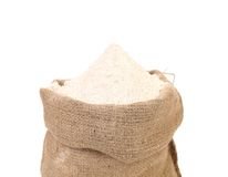 Sack with wheat flour. Stock Photo