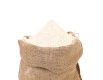 Sack with wheat flour. Stock Photo
