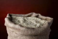 Sack of white rice Royalty Free Stock Images