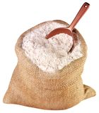 SACK OF WHOLEMEAL FLOUR CUT OUT royalty free stock photos