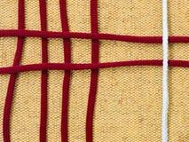 Sackcloth amarelo com laços Foto de Stock Royalty Free
