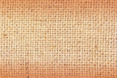 Sackcloth brown textured background Royalty Free Stock Images