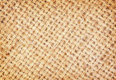 Sackcloth brown textured background Stock Images