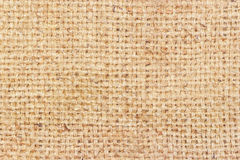 Sackcloth brown textured background Stock Photography