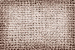 Sackcloth brown textured background Stock Photos