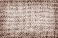 Sackcloth brown textured background Stock Photos