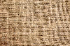 Sackcloth or burlap or sacking background. Stock Photos
