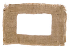 Sackcloth frame Stock Images