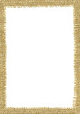 Sackcloth frame page. Stock Images