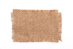 Sackcloth material Stock Images