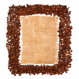 Sackcloth material Royalty Free Stock Image