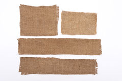 Sackcloth materials Royalty Free Stock Images