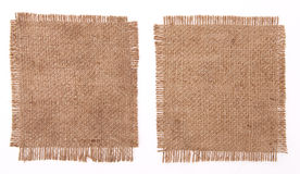 Sackcloth materials Royalty Free Stock Photos