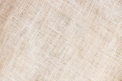 Sackcloth or natural organic burlap background with visible texture copy space for text and other web print design Stock Photography